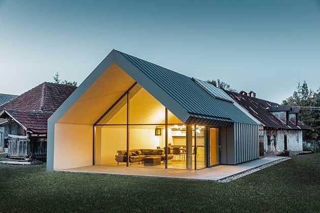 Modernit rurale ioarch costruzioni e impianti il for Casa moderna senza tetto