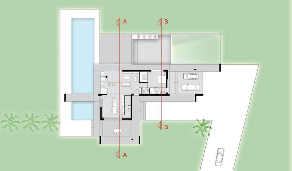 Profili ragusa contemporanea ioarch costruzioni e - Planimetria casa moderna ...